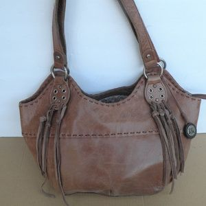 THE SAK LEATHER BUCKET TOTE